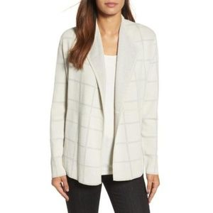 Eileen Fisher Windowpane Cardigan Sweater
